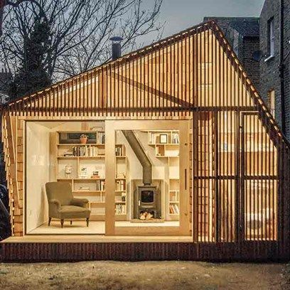 Writer's Shed with Shingle Cladding