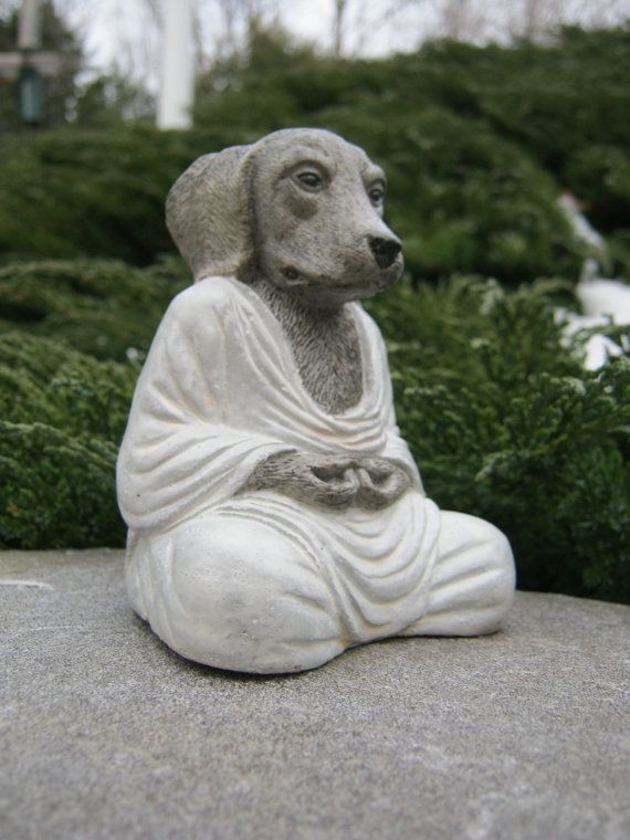 Buddhas Dog Buddha Meditating Zen Like by WestWindHomeGarden, $21.95