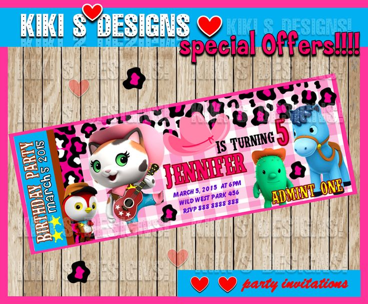 80% OFF SALE  Sheriff Callie's Birthday Party Invitation, Printable Party Invitations, Personalized Sheriff Callie Birthday Party Invitation by kitprintable on Etsy