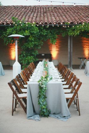 La Tavola Fine Linen Rental: Tuscany Natural | Photography: Diana Marie Photography, Venue: Santa Barbara Historical Museum, Floral: Ella & Louie, Wedding Planning: Wild Heart Events