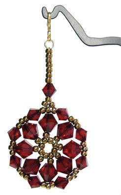 Crystal Ornament:  if finished size is small enough, make 2 for earrings &/or string several together for bracelet. if large, make as focal pendant