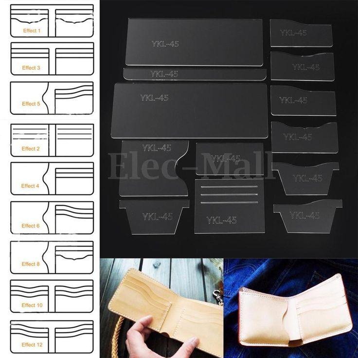 13Pcs прозрачный акрил короткий кошелек, узор трафарет шаблон набор кожа ремесло инструмент | Рукоделие, Изготовление изделий из кожи, Инструменты для работы с кожей | eBay!
