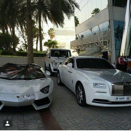 Lamborghini Aventador Rolls Royce Wraith And Mercedes