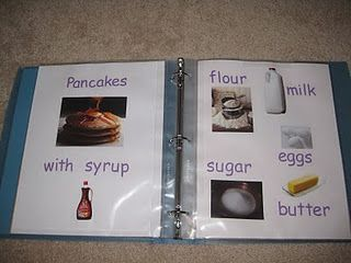 idea for recipe book for play kitchen