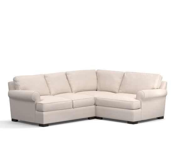 Townsend Upholstered 3 Piece Sectional With Corner
