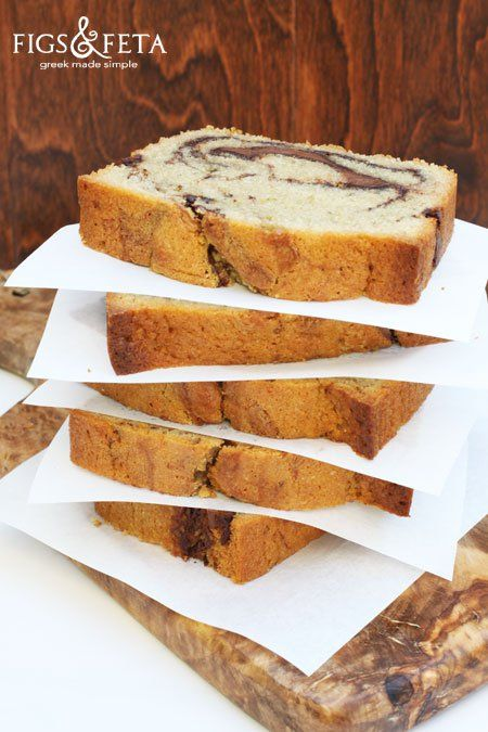 Coffee-Nutella-Pound-Swirl-Pound-Cake | figsandfeta.com