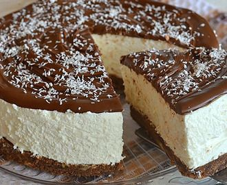 Nepečený čokoládovo-kokosový dort