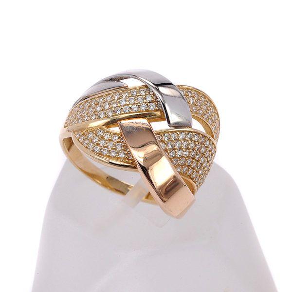 Δαχτυλίδι χρυσό κ14 ζιργκόν 7291