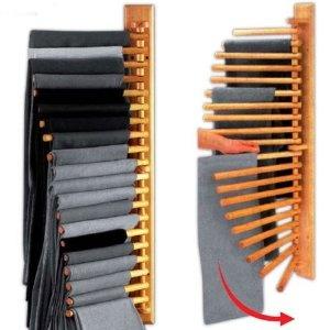 Wooden Rotating Trousers Hanger Rack