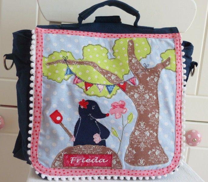 """Kindergartentaschen - Kindergartenrucksack """"Maulwurfmädchen"""" - ein Designerstück…"""