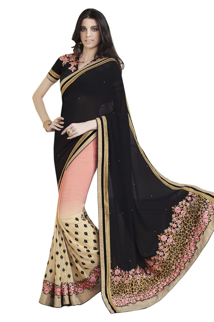 Buy Now Multicolour Embroidery Work Georgette Half-Half Fancy Saree only at Lalgulal.com. Price :- 2,552/- inr. To ‪#‎Order‬ :- http://goo.gl/IT7FBz To Order you Call or ‪#‎Whatsapp‬ us on +91-95121-50402 COD & Free Shipping Available only in India.