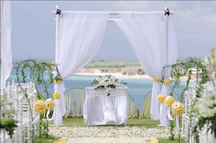 Our ceremony set up #weddingceremony - #weddingaltar - #weddings - #bali - #baliwedding - #baliweddingplanner - http://lilyweddingservices.com/