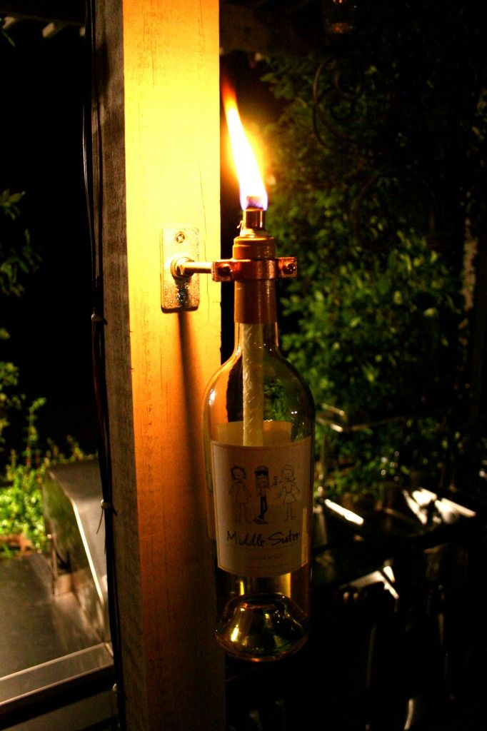 Just in case you need an excuse to finish off that bottle of William Chris: How to make a Recycled Wine Bottle Torch #williamchris