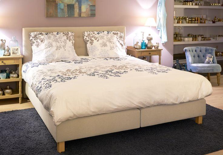 Bed Juliette - hoofdbord gecapitonneerd - Bed maat: 180 x 200 inclusief matras en hoofdbord (ook in maat 160 x 200 en 140 x 200)