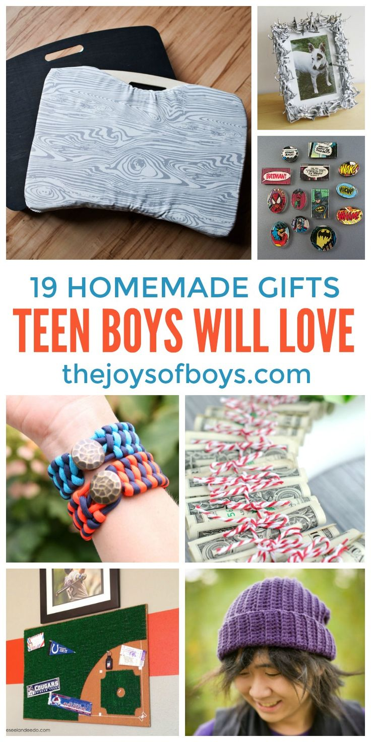 Teen boys are HARD to buy for.  I love this list of DIY gifts teen boys will love.
