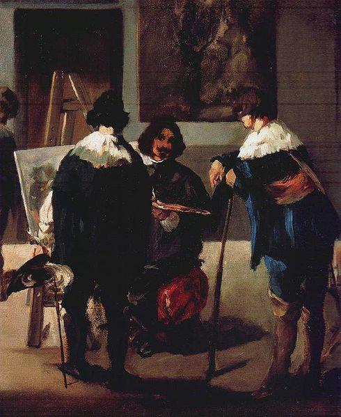 Édouard Manet | Spanish Studio Scene (Velasquez in the Studio)