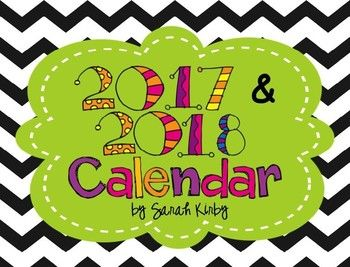Great to keep in your teacher notebook, on your desk, or to hang in your classroom!  These bright-colored, chevron, monthly calendars are editable.  This is an editable PowerPoint file!  Just insert a text box and start typing!  You get 24 months in this calendar - January 2017-December 2018!***Please note, this calendar will be updated every January for the following year!***