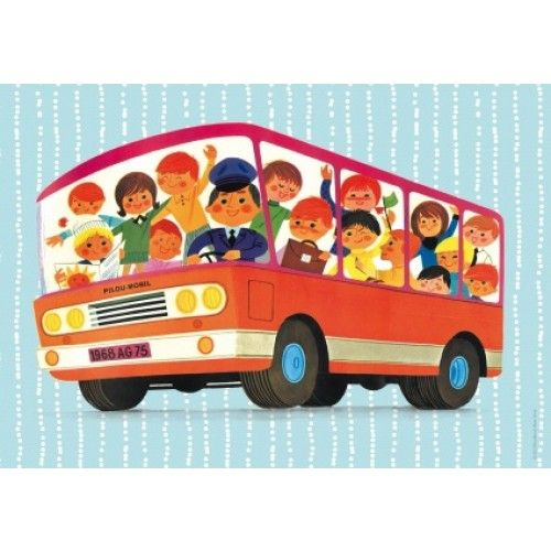 Alain Grée poster bus 29.7 x 21 cm