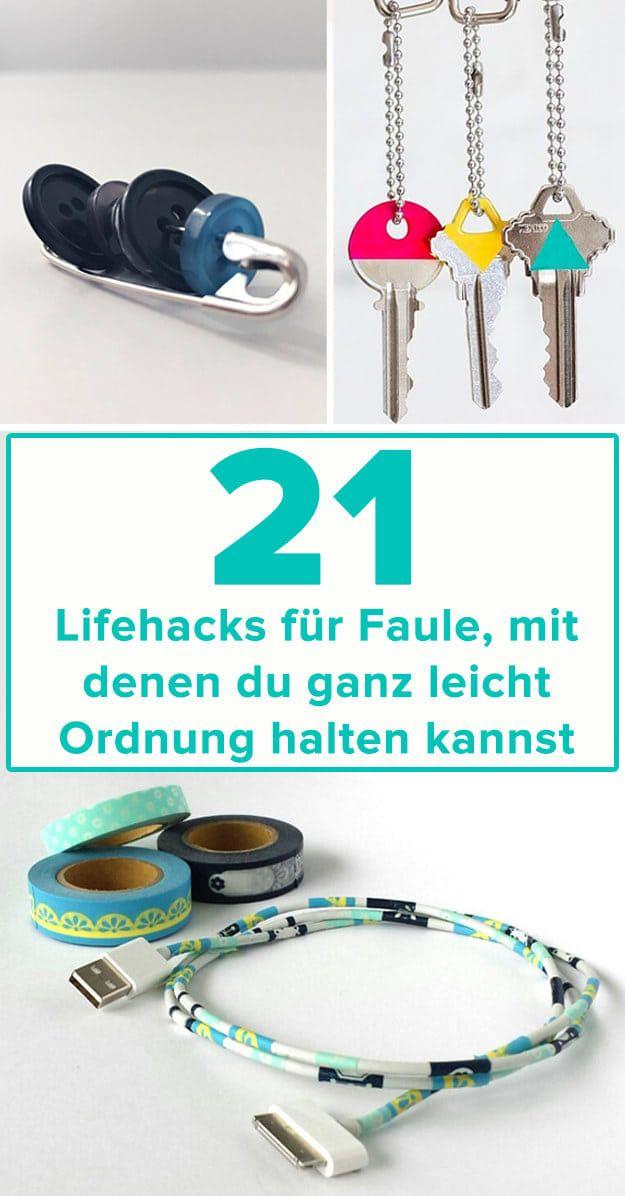 21 Lifehacks, mit denen sogar Faule ganz leicht Ordnung halten können