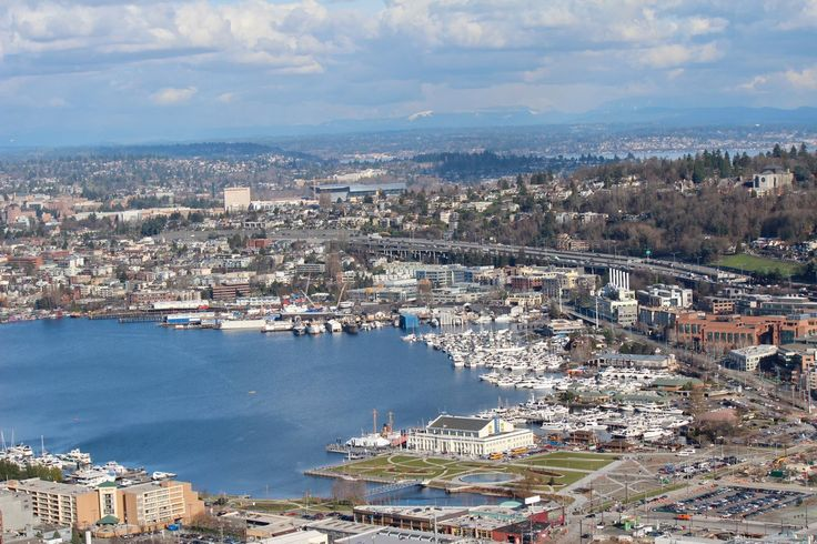 Beautiful view of Seattle! You can see the new Museum of History and Industry (MOHAI) location on South Lake Union, University of Washington and Husky Stadium. Photo by Megan Ching.