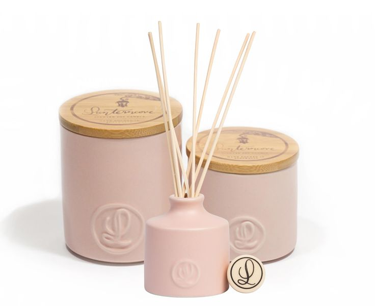 Pastel Collection - Olive Leaf & Lavender Candles and Diffuser