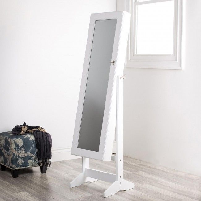 Store all your jewellery and see how great you look wearing it with our Sophia Floor Mirror & Jewellery Cabinet. This full length mirror opens to reveal extensive storage for all your jewellery.