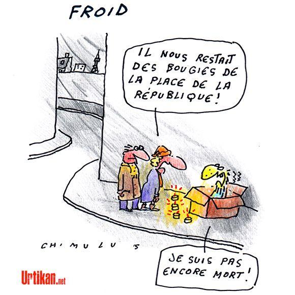 Météo : le froid arrive sur la France - Dessin du jour - Urtikan.net