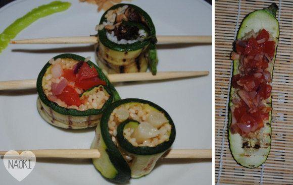 De meeste mensen zullen wel eens sushi gegeten hebben, maar vast niet op deze manier. Deze sushi zijn namelijk bereid met courgette in plaats van