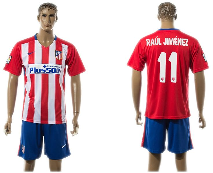 2015-2016 Atletico Madrid #11 RAUL JIMENEZ Home Soccer Jersey