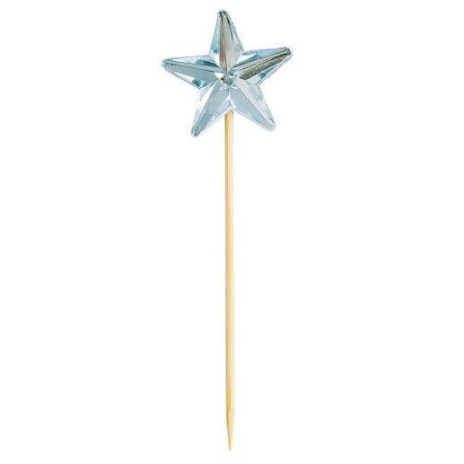 Kuchendeko Topper als Stern in blau