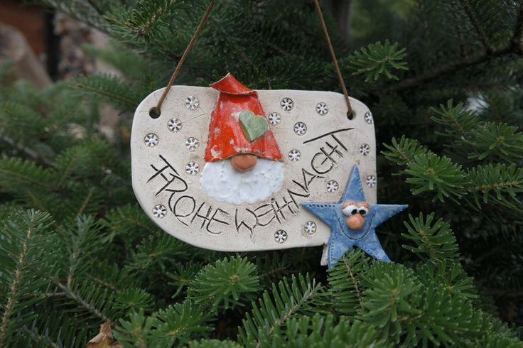 Frohe Weihnacht-Das Wichtelschild mit Stern von ThoLiKo auf DaWanda.com