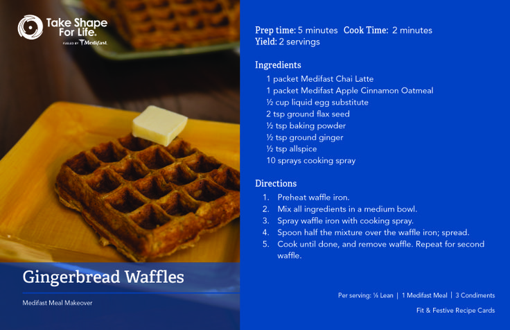 Try this awesome #recipe for Gingerbread Waffles this morning for a great start to your day! #TSFL