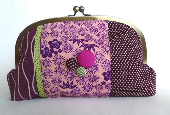 Cheeky Leopard Kimono Clutch Bag