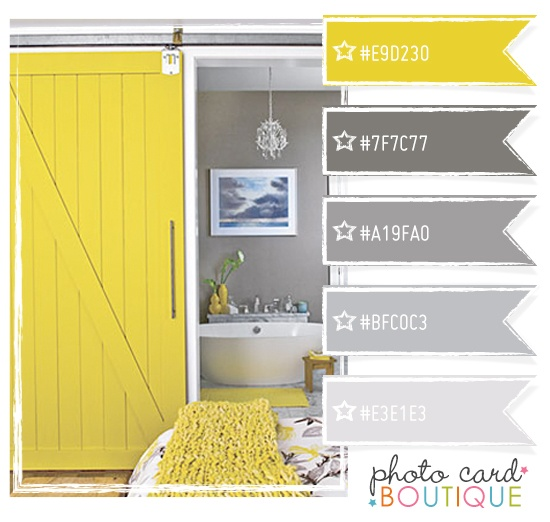 yellow and gray bathroom colors
