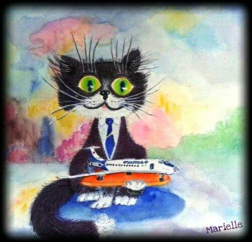 """""""CAT"""", Watercolor"""