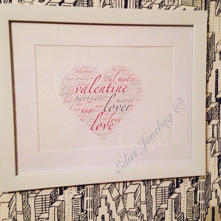 A personal favourite from my Etsy shop https://www.etsy.com/uk/listing/264050061/valentines-day-heart-word-collage-lovers