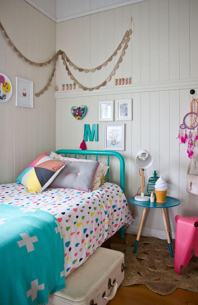 Lovely And Colorful Bedroom Designs That Kids Would Love : Cheerful Kids  Room Design With Polka