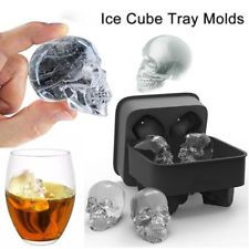 Halloween Silicone 3D Ice Ball Cube Tray Skull Shape Mold Chocolate Baking Tools