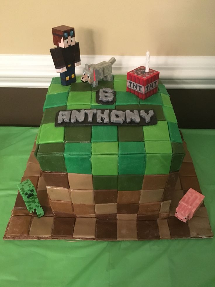 Minecraft Block Cake Images : 17 Best images about Minecraft Party on Pinterest ...