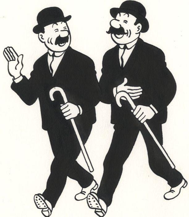 Dupont et Dupond - Studio Hergé