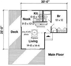 First Floor Plan of Contemporary Retro House Plan 24310