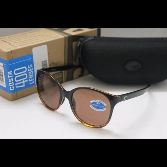Costa Del Mar Goby Polarized Sunglasses Coconut Fd Brand new in the box Costa Del Mar Goby POLARIZED Women's Sunglasses with Coconut Fade Frame and Polarized 400P Dark Vermillion Lens.  Includes Costa box, zippered case, and paperwork. 100% authentic direct from Costa.  MSRP is $129 + tax.  Model number GB52DVP.  I ship out within 24 hours.   Thank you for looking and have a wonderful day! Costa Del Mar Accessories Sunglasses