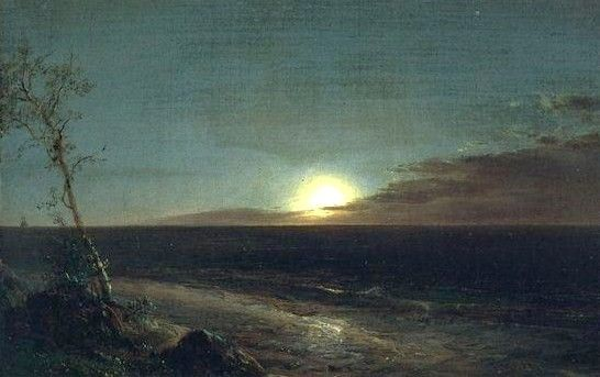 "Frederic Edwin Church (1826-1900) -  ""Moonrise"""