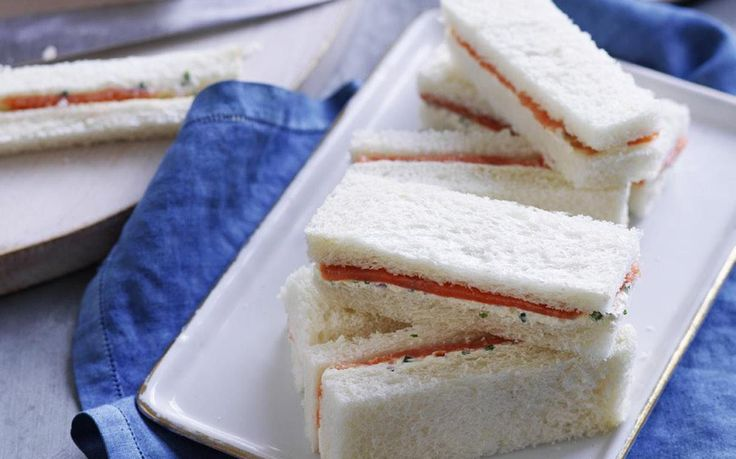 smoked salmon finger sandwiches