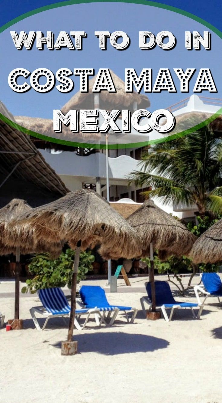 What to do in Costa Maya Mexico when you arrive by cruise ship? There's the typical cruise ship pool complex. But there's so much more to experience.