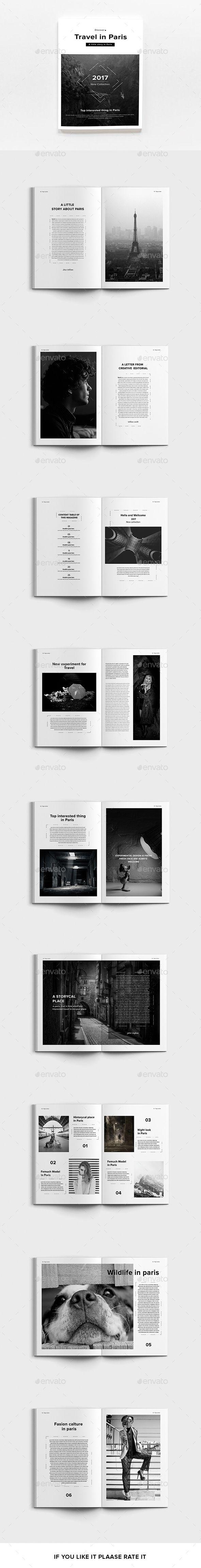 Layout photoshop web design website template tutorials tutorial 022 - Travel In Paris Magazines Print Templates Download Here Https Graphicriver