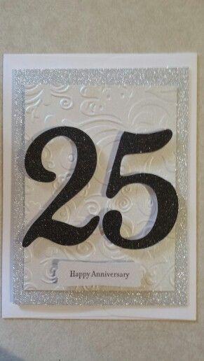 25th anniversary card simple yet elegant