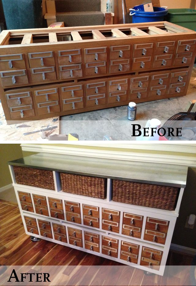 Refinished Library Card Catalog ~ love it. - 201 Best Library Card Catalogs, Mailboxes And Apothecary Furniture