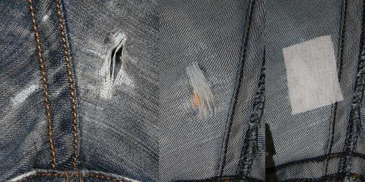 Jeans im Schritt flicken