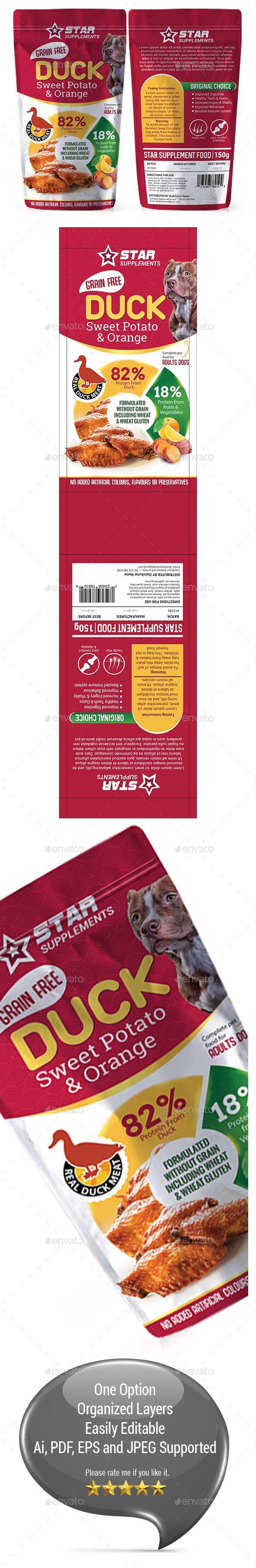 Download Dog Food Supplement Packaging Template 07 Packaging Template Packaging Template Design Dog Food Supplement